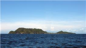 View of Apo Island from the west