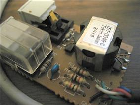 Rear view of auto-termination switch with dust cover removed