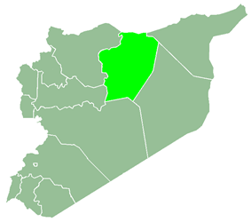 Al-Raqqah Governorate within Syria
