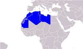 Map of the Arab Maghreb Union