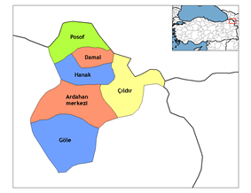 Districts of Ardahan
