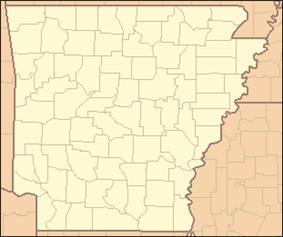 Location of Davidsonville Historic State Park in Arkansas