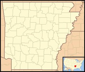 Location of Arkansas Post National Memorial in Arkansas