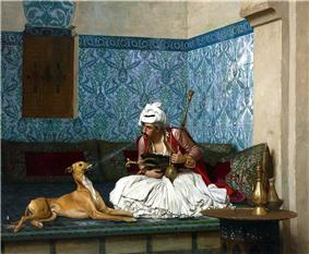 Arnaut and his dog by Jean Leon gerome.jpg