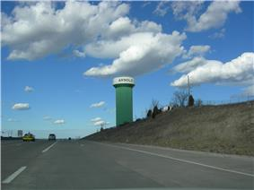 Arnold Water Tower from I-55 North