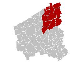 Location of the arrondissement in West Flanders