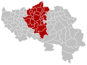 Location of the arrondissement in Liège