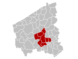 Location of the arrondissement in West Flanders