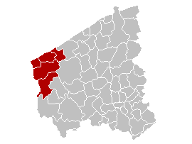 Location of the administrative arrondissement in West Flanders