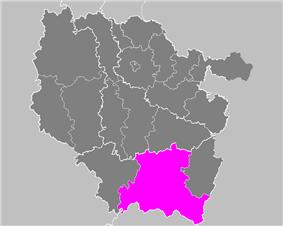Location of Épinal in Lorraine