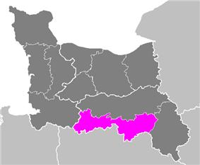 Location of Alençon in Basse-Normandie