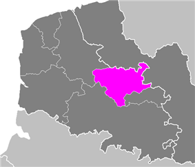 Location of Béthune in Nord-Pas de Calais
