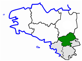 Location of the arrondissement of Châteaubriant in Brittany
