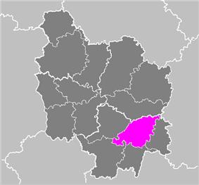 Location of Chalon-sur-Saône in Bourgogne