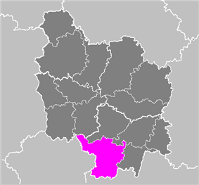 Location of Charolles in Bourgogne