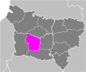 Location of Clermont in Picardy