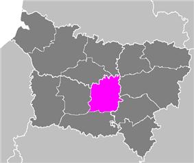 Location of Compiègne in Picardie