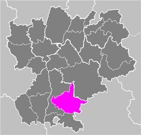 Location of Die in Rhône-Alpes