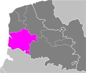 Location of Montreuil in Nord-Pas de Calais