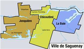 Location of La Baie