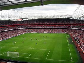 Inside Arsenal's current stadium, the Emirates Stadium