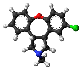 Ball-and-stick model of the asenapine molecule