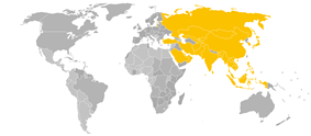 Member states in yellow
