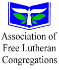 The AFLC logo is the open Bible that is symbolic of God's word as the foundation of faith and life. The Ascending Dove is symbolic of the freedom of congregation, and the power and guidance of the Holy Spirit. The Green Vine is symbolic of the living congregation bearing fruit for God.