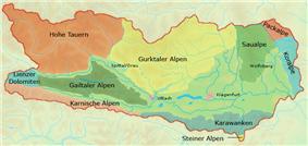 At carinthia mountain ranges
