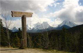 Athabasca Pass sign