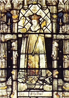 Æthelstan in a fifteenth-century stained glass window