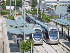SEF terminal station of Athens Tram system.