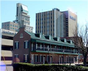 Downtown Augusta on Broad Street File:Augsky.JPGThe Aiken County Courthouse in Downtown Aiken