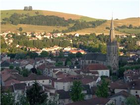 The church of Saint-Géraud and surrounding buildings, in Aurillac