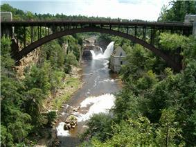 The AuSable Chasm Bridge