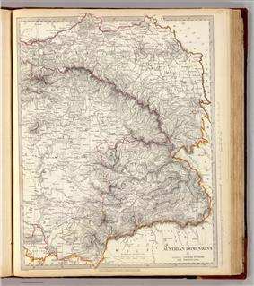 Physical map from old book