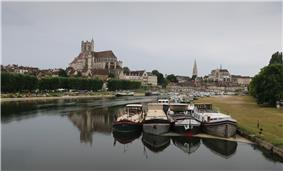 Auxerre and Yonne river