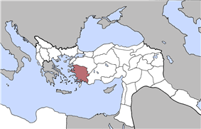 Location of Aidin Vilayet