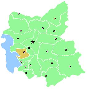 Location of Azarshahr County in East Azerbaijan Province