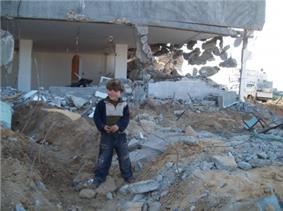House in Azbet, Jabalia, destroyed by Israel in 2009