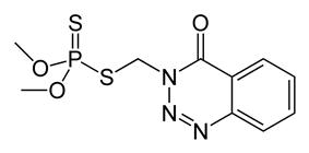 Kekulé, skeletal formula of azinphos-methyl