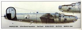 B-24 with SAD SACK nose art