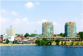 Downtown Barrie from Kempenfelt Bay
