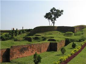 Ramparts of Mahasthangarh citadel in Bogra