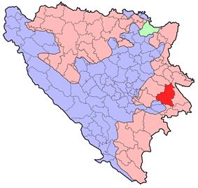 Location of Rogatica within Republika Srpska