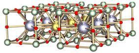 Yttrium barium copper oxide structure