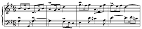 First 4 bars of the seventh variation.