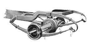 Car suspension with three-quarter elliptic springs