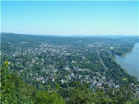 Bad Honnef seen from the Drachenfels