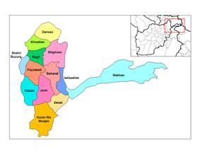 Districts of Badakhshan